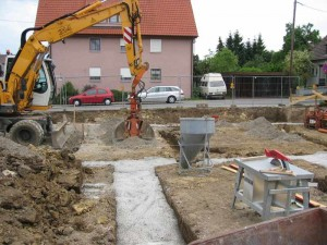 Fundament Bodenplatte