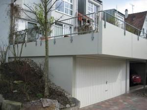 Terrassenfassade streichen