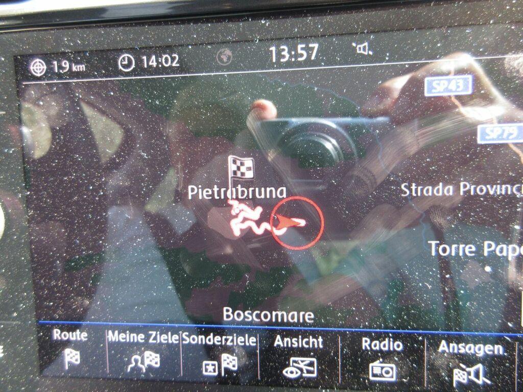 Anfahrt Pietrabruna auf dem Navi